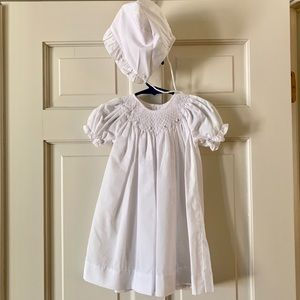 White smocked dress. In perfect condition!